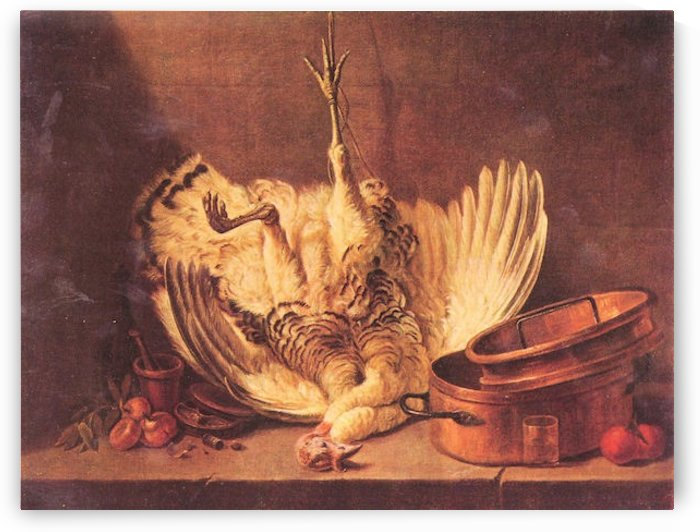 Still Life with turkey by Jean Chardin by Jean Chardin