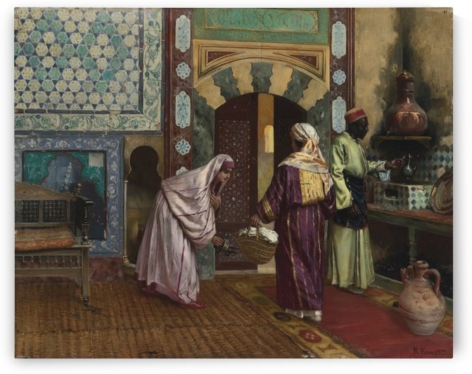 The hammam by Rudolf Ernst
