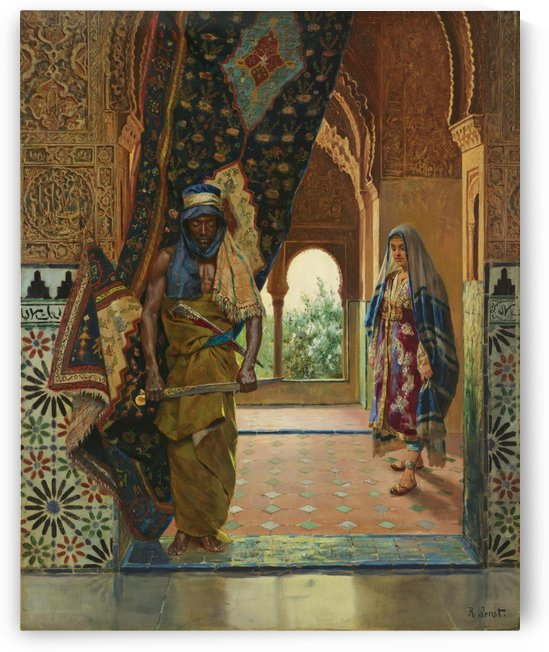 The Guard of the Harem by Rudolf Ernst