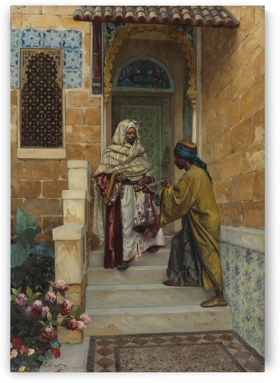 The presentation of weapon by Rudolf Ernst