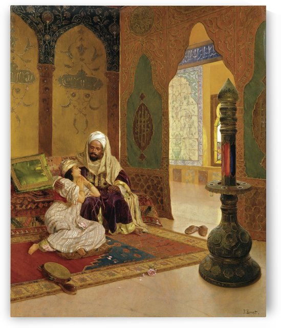 Romantic interlude by Rudolf Ernst
