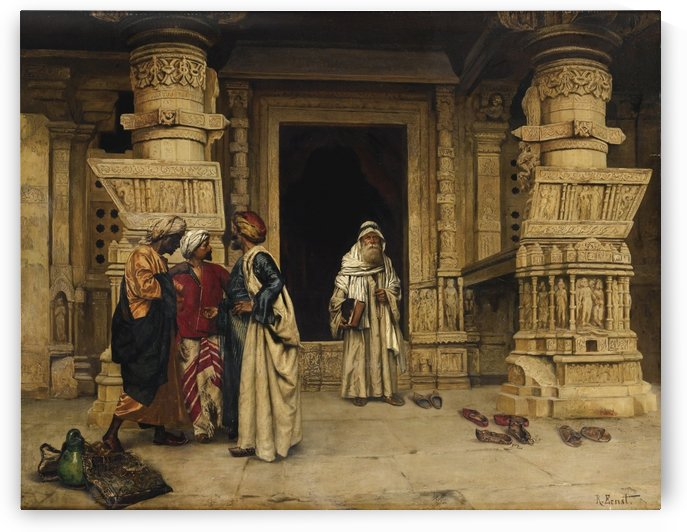 The chat outside a monument by Rudolf Ernst