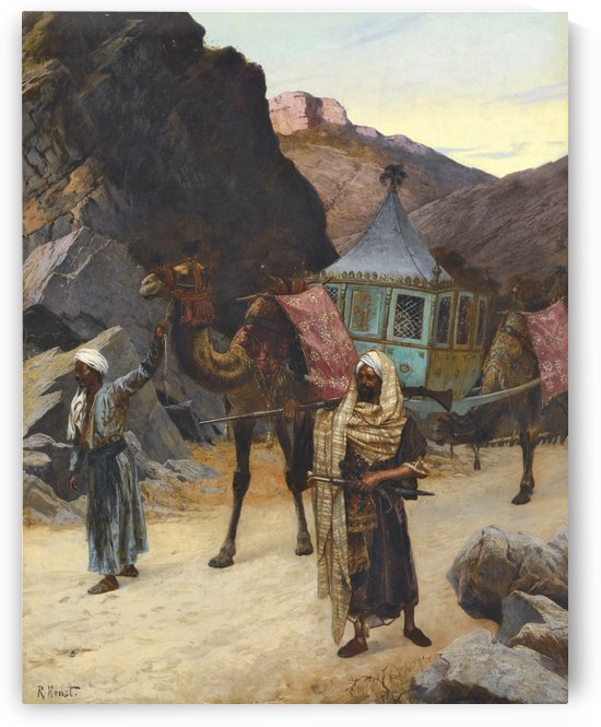 The Palanquin by Rudolf Ernst