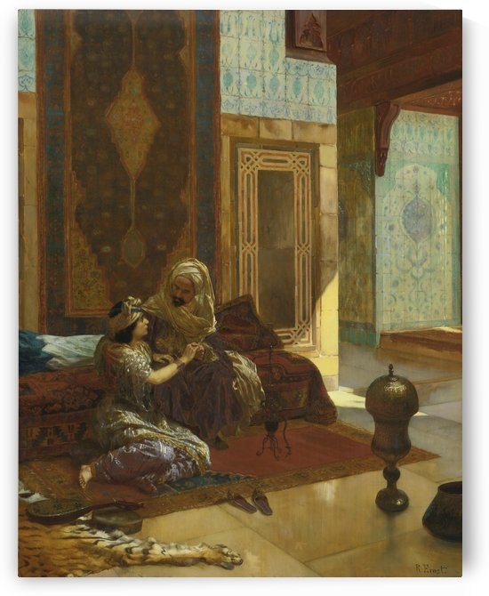La favorite by Rudolf Ernst