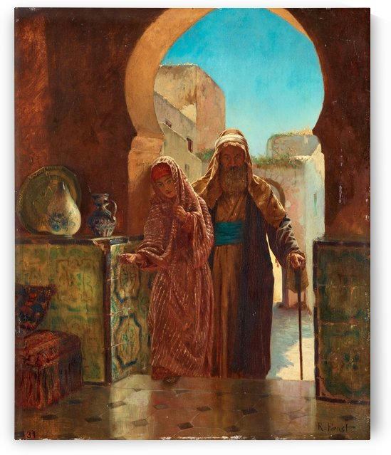 Entering the palace by Rudolf Ernst