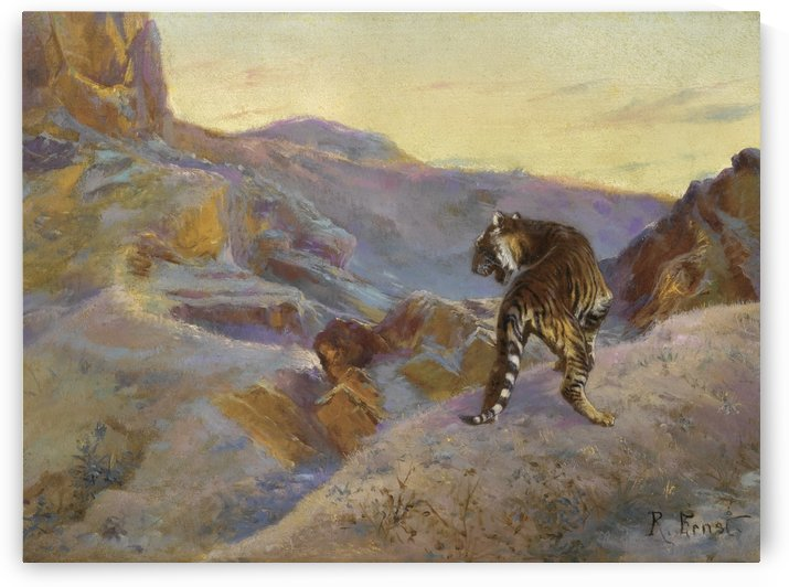 Tiger in the mountains by Rudolf Ernst