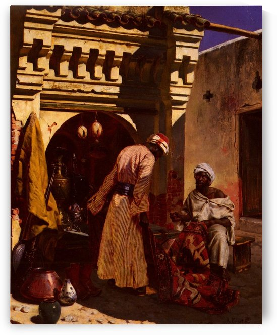 The Rug Merchant by Rudolf Ernst