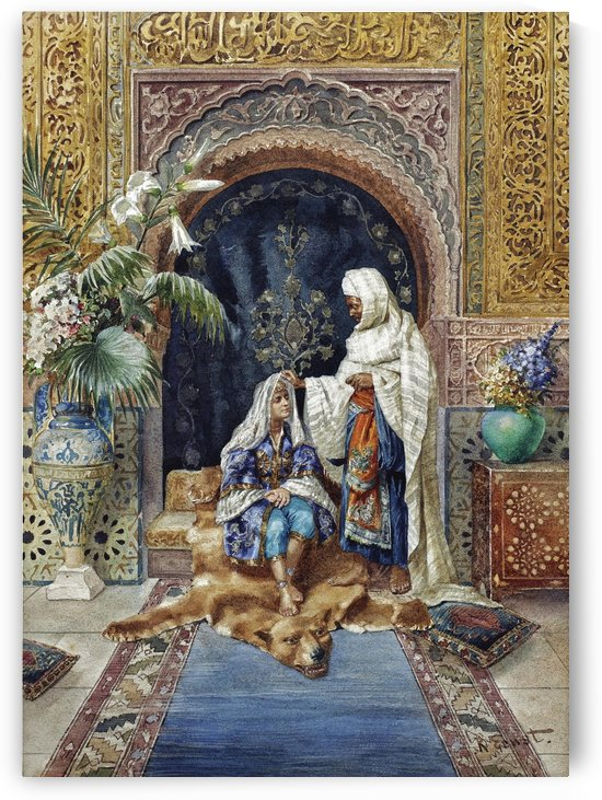The Caliph and his favourite by Rudolf Ernst