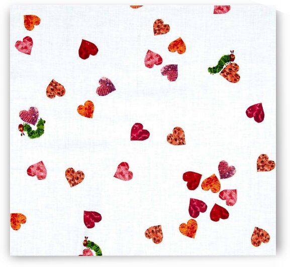 I Love You Small Hearts Red by Mutlu Topuz