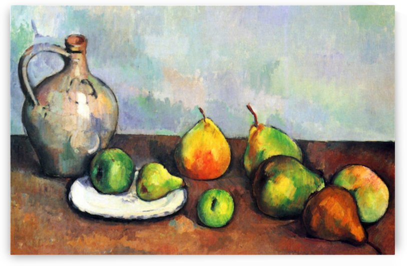 Still Life, Jar and Fruit by Cezanne by Cezanne