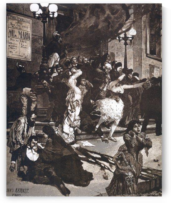 Theaterbrand, 1883 by Rudolf Ernst