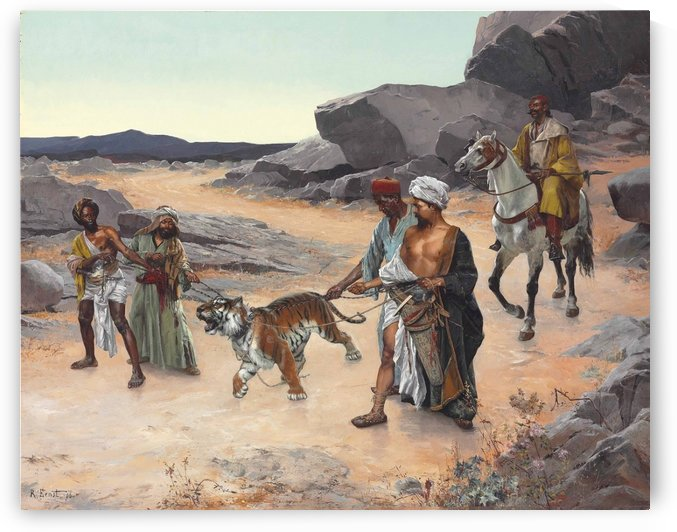Return from the tiger hunt by Rudolf Ernst