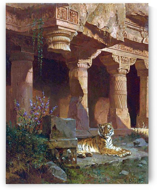 Tiger at rest by Rudolf Ernst