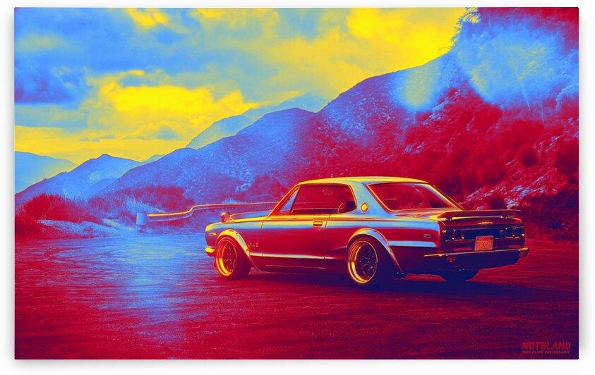 200 Gtx   Modern Cars Poster  neon colors ca 2020 by Ahmet Asar by ASAR STUDIOS
