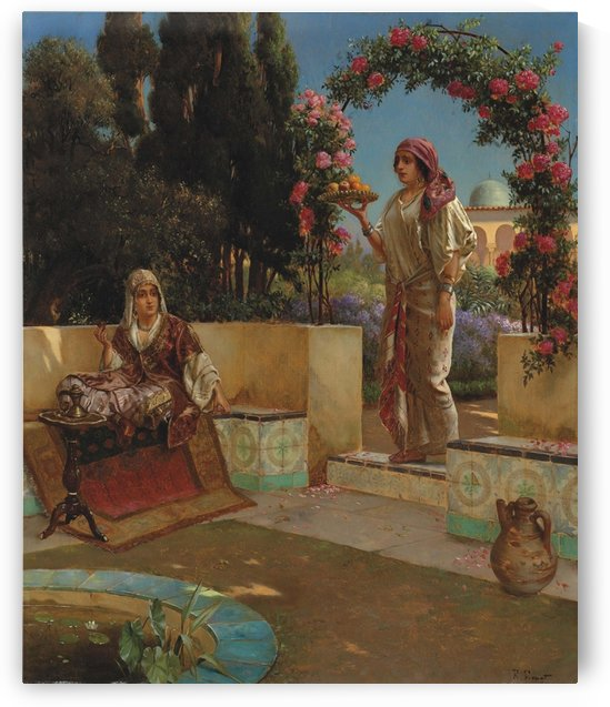 Afternoon tea by Rudolf Ernst