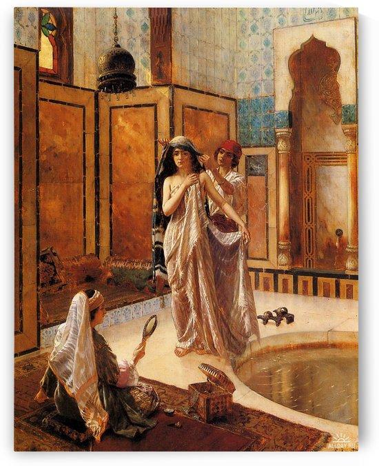 The harem bath by Rudolf Ernst