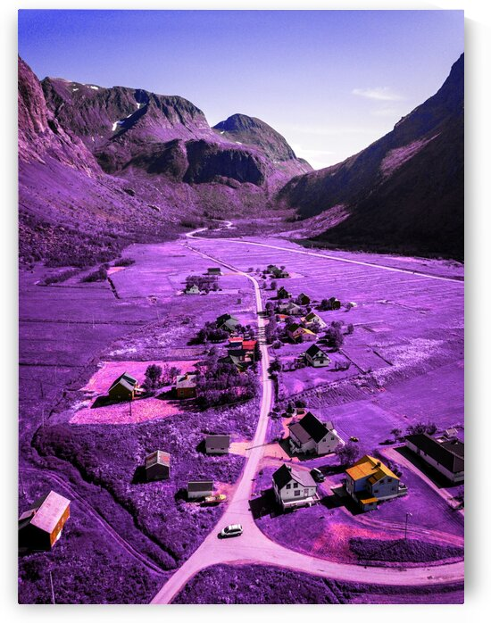 A nordic village   Infrared   Purple by ASAR STUDIOS