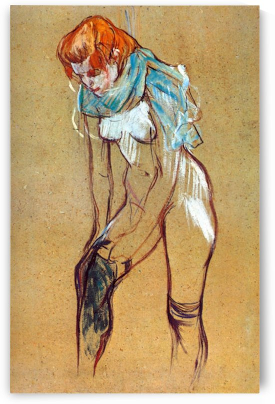 Stockings by Toulouse-Lautrec by Toulouse-Lautrec