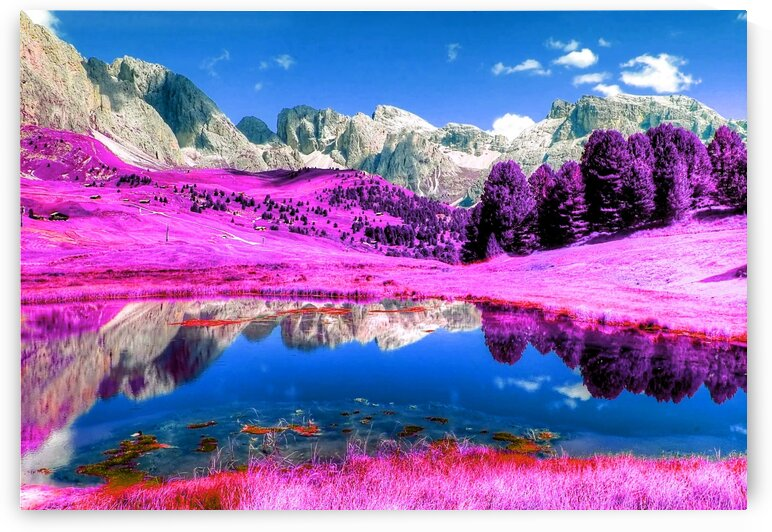 Alpine Lake   Infrared   Purple by ASAR STUDIOS