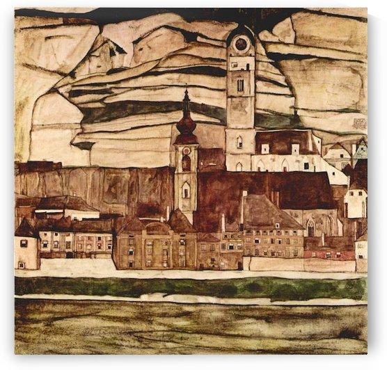 Stone on the Danube II by Schiele by Schiele