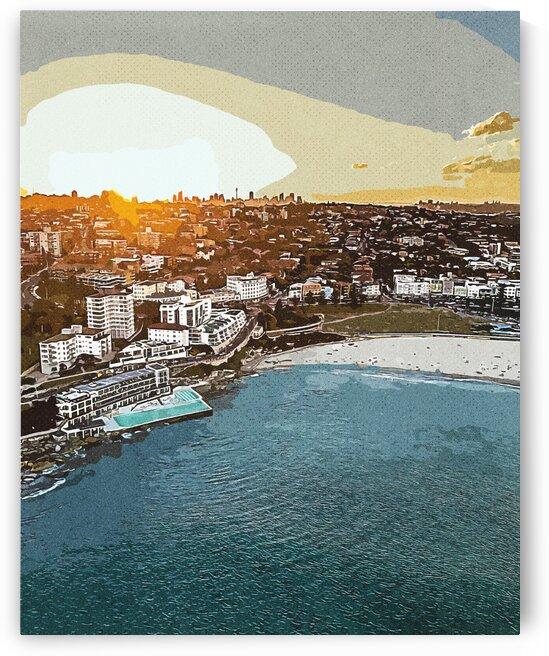 Bondi Beach  Australia    Vintage Travel Posters ca 2020 by Ahmet Asar by ASAR STUDIOS