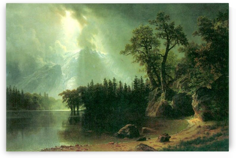 Storm over the Sierra Nevada by Bierstadt by Bierstadt