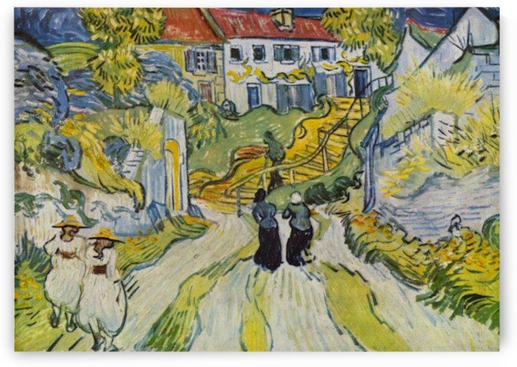 Street and road in Auvers by Van Gogh by Van Gogh
