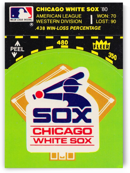 1980 Chicago White Sox Fleer Decal Wall Art by Row One Brand