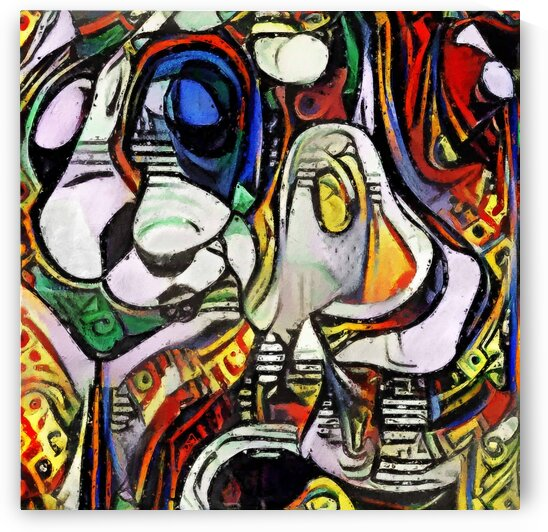Abstract Art Inspired by Girl Before a Mirror by Boyan Savov