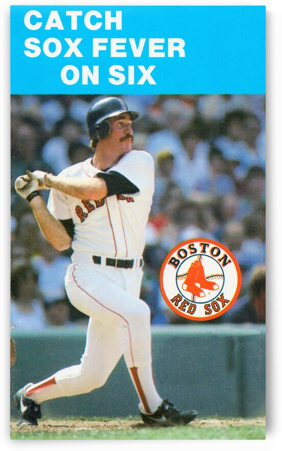1984 Boston Red Sox Wade Boggs Poster by Row One Brand
