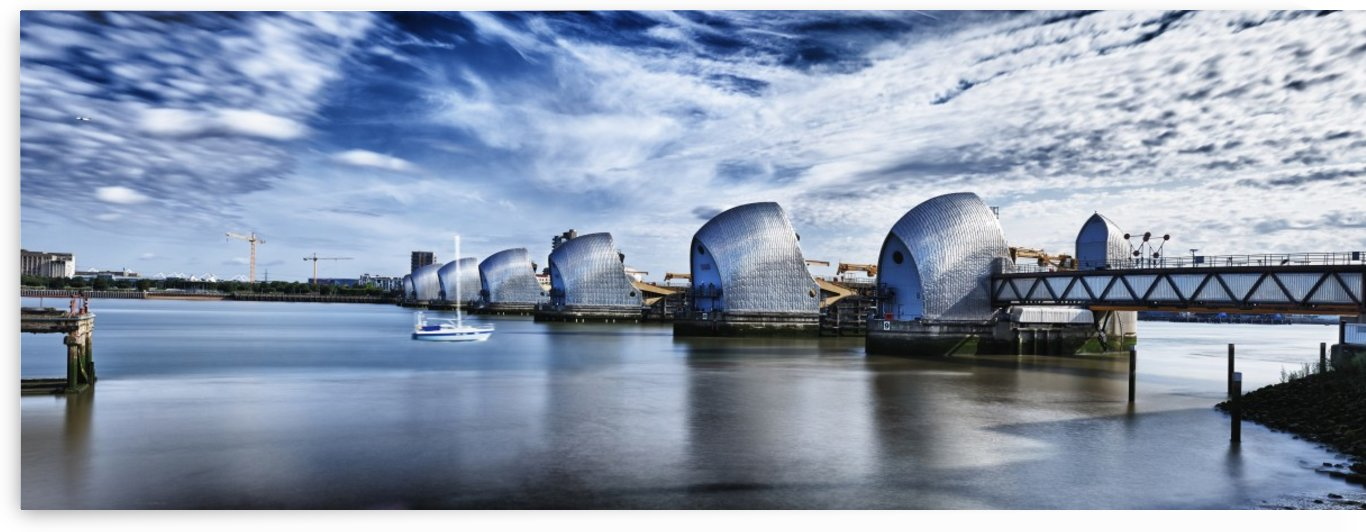 Thames Flood Barrier by Adrian Brockwell