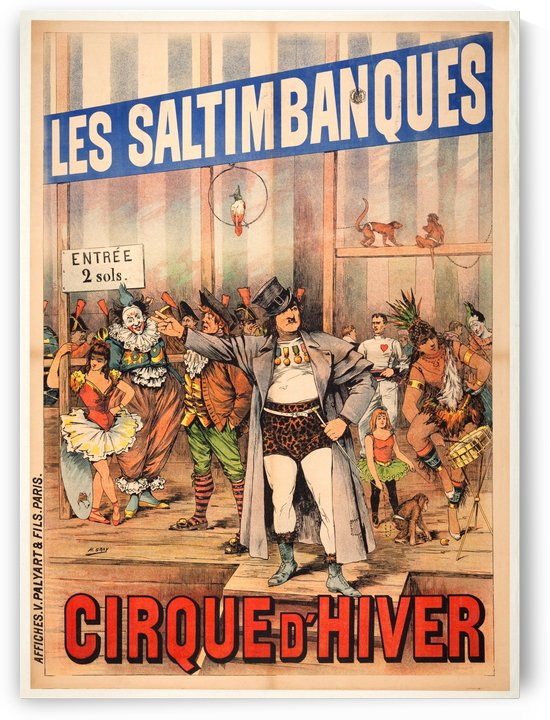 Les Saltimbanques by VINTAGE POSTER