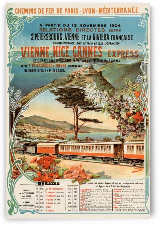 Vienne, Nice, Cannes by VINTAGE POSTER