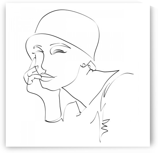 Fashion woman in hat by Aquamarine