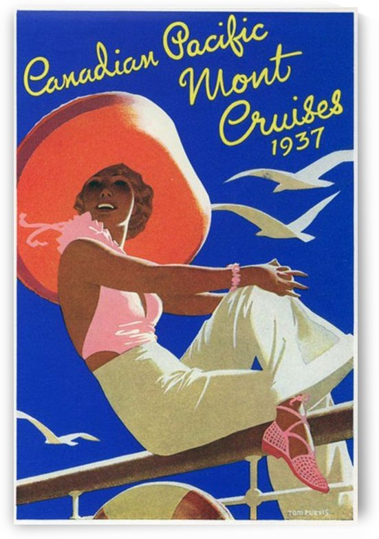 Canadian Pacific Mount Cruises 1937 by VINTAGE POSTER