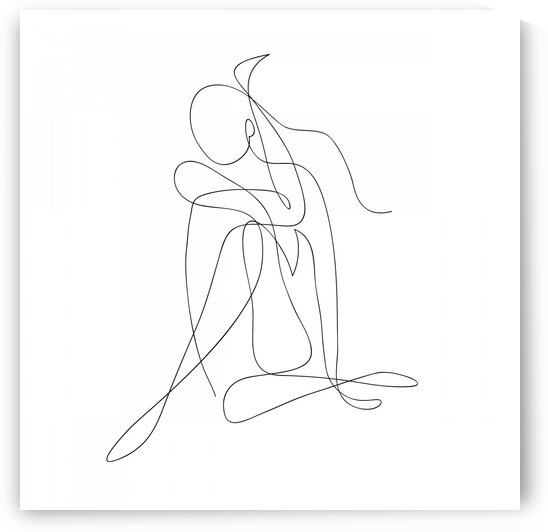 abstract woman body by Aquamarine