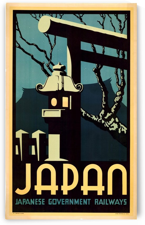 Japanese Government Railways by VINTAGE POSTER