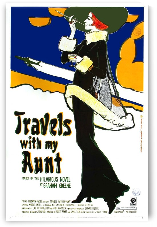 Travels with my aunt by VINTAGE POSTER