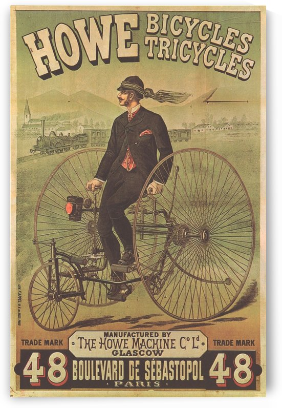 Howe bicycles by VINTAGE POSTER