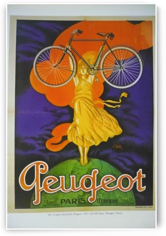Peugeot Paris by VINTAGE POSTER