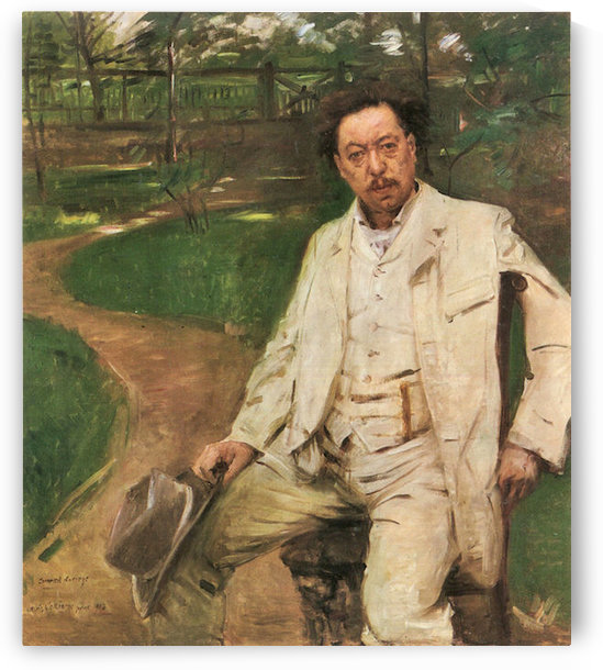 Portrait of the pianist Conrad Ansorge by Lovis Corinth by Lovis Corinth