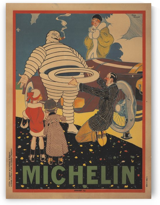 Michelin Pneu by VINTAGE POSTER