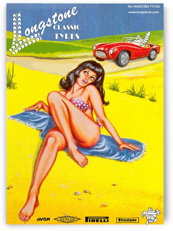 Longstone classic tyres by VINTAGE POSTER