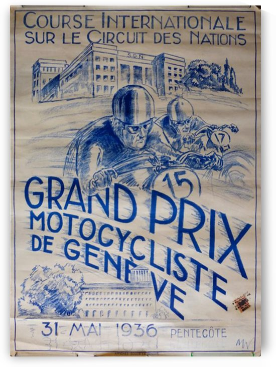Grand Prix Motocycliste by VINTAGE POSTER
