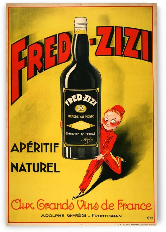 Fred Zizi by VINTAGE POSTER