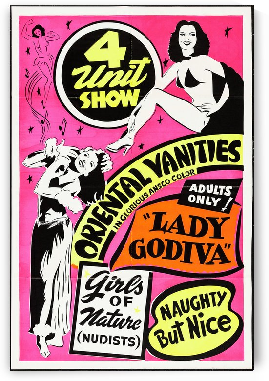 4 Unit Show by VINTAGE POSTER