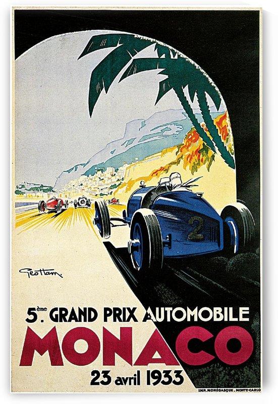 Grand Prix Monaco by VINTAGE POSTER