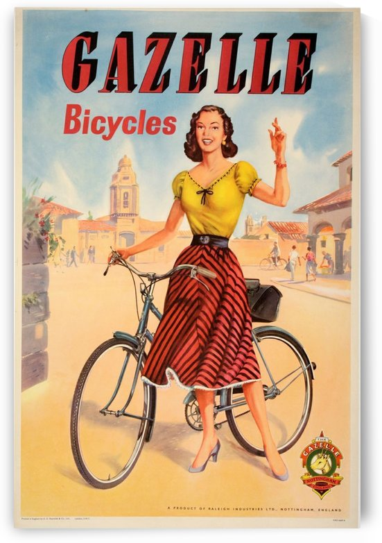 Gazelle Bicycles by VINTAGE POSTER