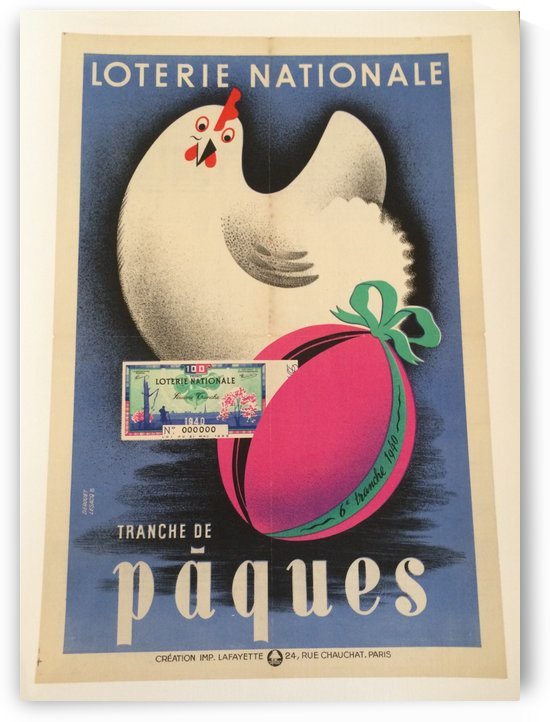 Loterie Nationale by VINTAGE POSTER
