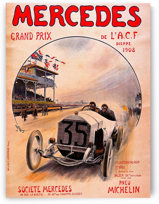 Mercedes Grand Prix by VINTAGE POSTER